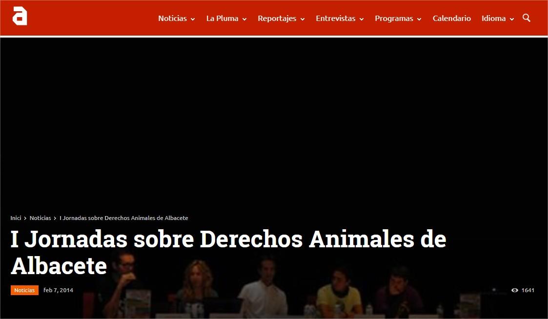 I Jornadas sobre Derechos Animales de Albacete TVAnimalista.com