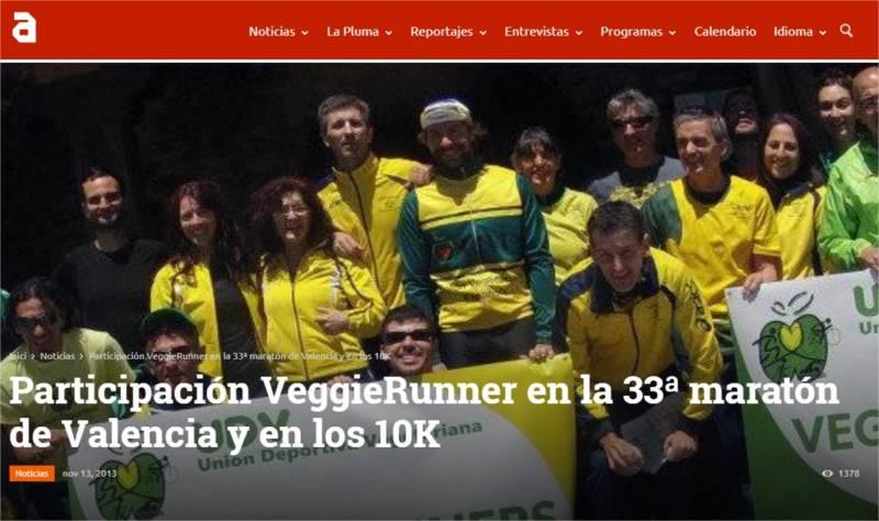 Participación VeggieRunner en la 33ª maratón de Valencia y en los 10K TVAnimalista.com