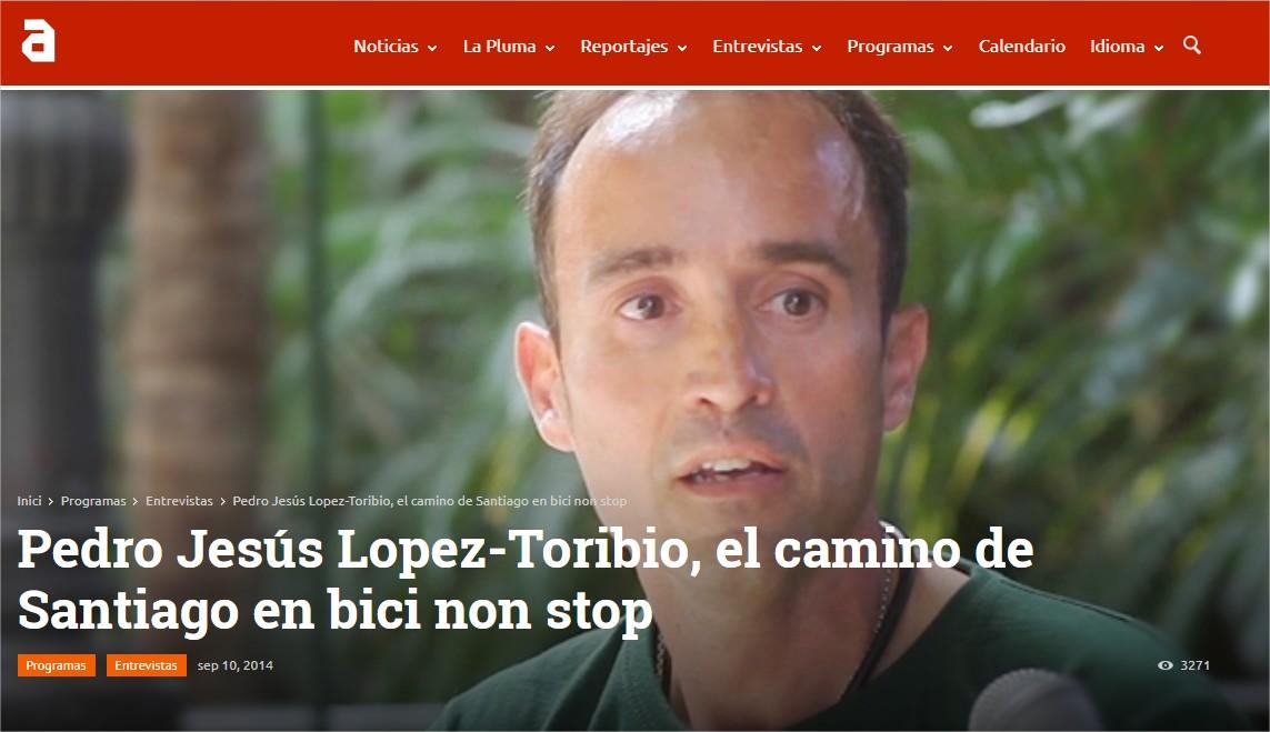 Pedro Jesús Lopez-Toribio, el camino de Santiago en bici non stop TVAnimalista.com